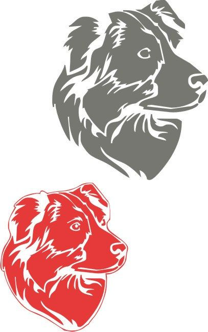 Kuntry aussie Australian shepherd in 4 file types. You will get each file in usable Jpeg, DXF, EPS and svg. Perfect for cricut vinyl cutter or cnc