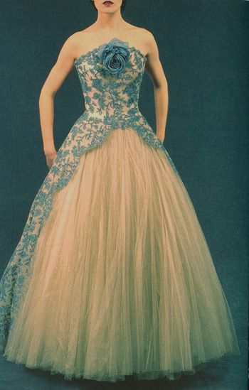 Fifties Couture Photographed by Olivier Theysken. Ballgown by Pierre Balmain…