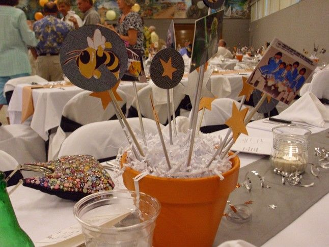 Best images about centerpieces for high school reunions