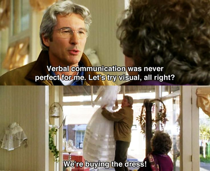 Verbal communication was never perfect for me.. ~ Runaway Bride (1999) ~ Movie Quotes