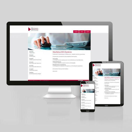 Westfalica EDV-Systeme   #website #gestaltung #inspiration
