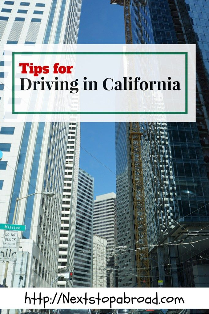 tips for driving in California