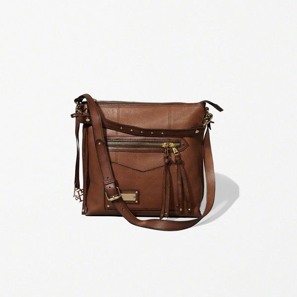 Abercrombie & Fitch Leather Heritage City Tote (€140) ❤ liked on Polyvore featuring bags, handbags, tote bags, brown, zipper tote, brown tote bags, leather tote handbags, zippered tote bag and handbags totes