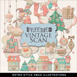 Freebies Winter Retro Illustrations