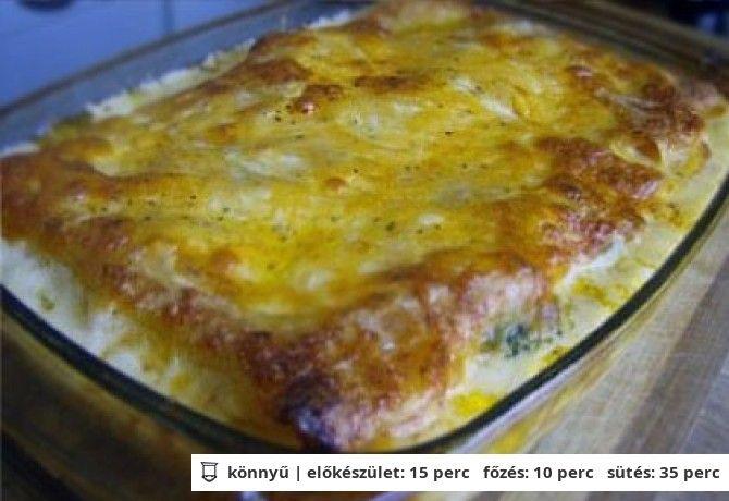 Brokkolis lasagne