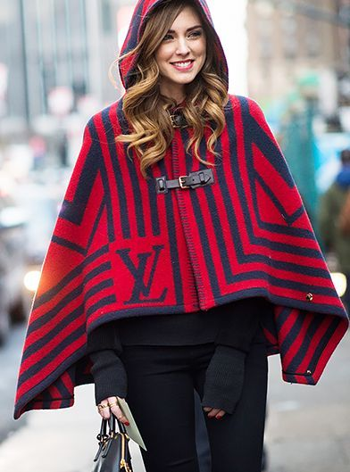 Red Collection: NYFW: Little red Louis Vuitton riding hood (Chiara Ferragni of The Blonde Salad)