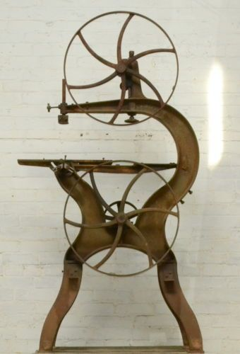 Industrial-Woodworking-Machinery-Antique-Carpentry-Cast-Iron-Tool-J-M-Marston