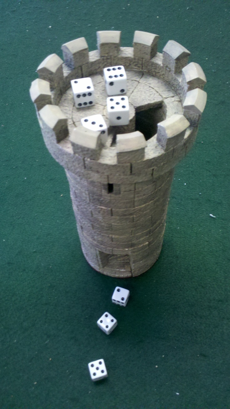 My second favorite piece of terrain, a dice roller tower made of Hirst Arts blocks.