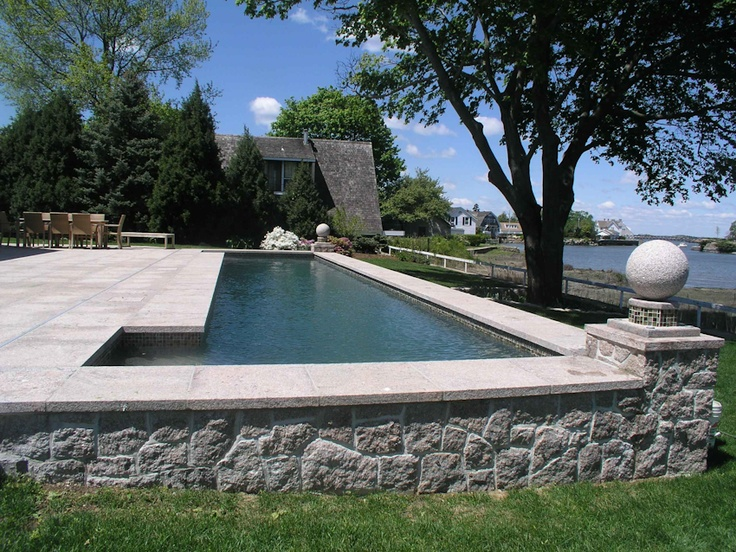 154 best images about pools on pinterest swimming pool for Raised pool designs