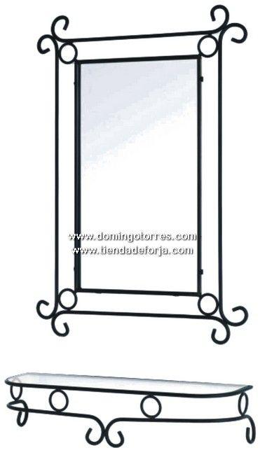 Consola y espejo de forja artística CE-9