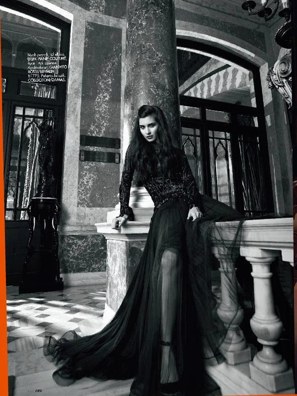 impsychotic: Tuba Buyukustun by Emre Dogru for Elle Turkey December 2012