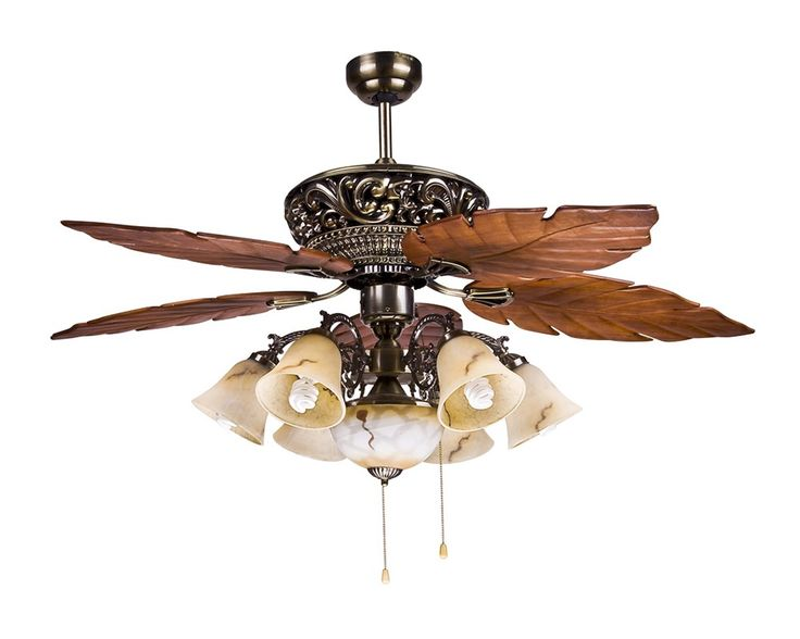 Large Tropical Ceiling Fan Light with 5 Maple Leaves Blade ...