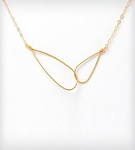 Ava - Loop Necklace | The clean lines of this interlocking loop necklace will comple... | Necklaces