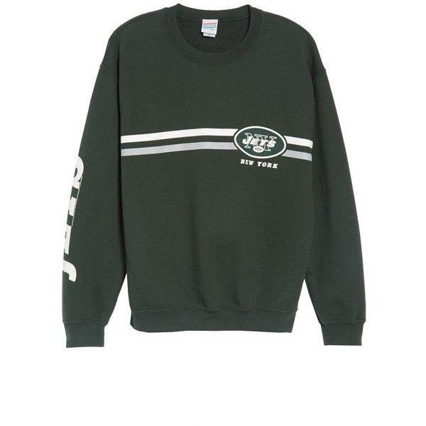 Women's Junk Food Retro Nfl Team Sweatshirt (1 260 UAH) ❤ liked on Polyvore featuring tops, hoodies, sweatshirts, jets, nfl sweatshirts, retro tops, nfl top, retro sweatshirts and junk food clothing