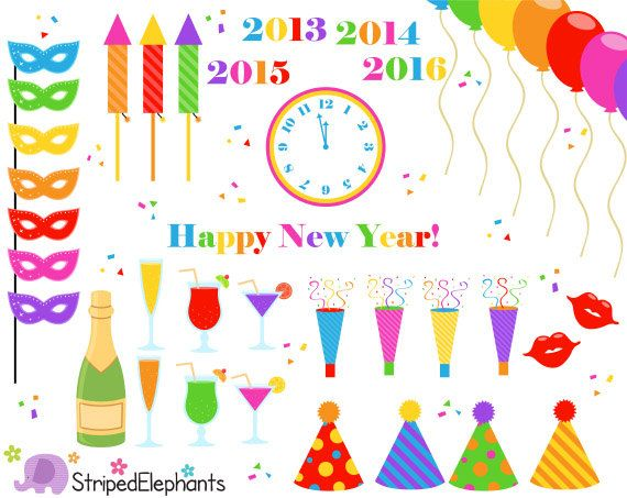 free clipart new years eve 2015 - photo #46
