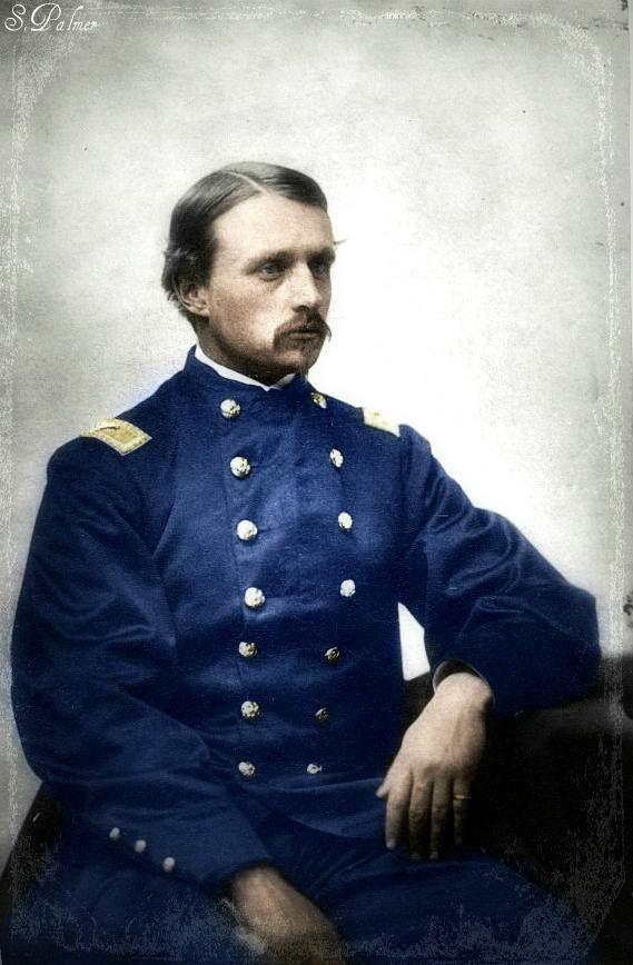 Colorized Photo of Col. Robert Gould Shaw