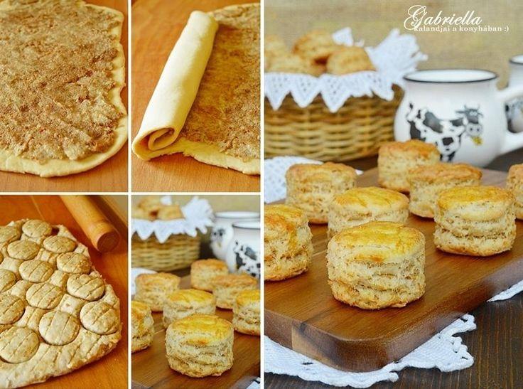 Gabriella kalandjai a konyhában :): Réteges tepertős pogácsa