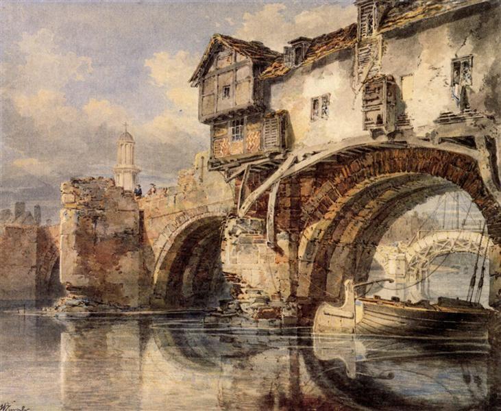 Welsh Bridge at Shrewsbury - Turner William