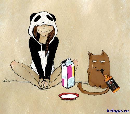 Девочка Панда и кот Барсик от White Box - Белоозёрский информационно-развлекательный портал