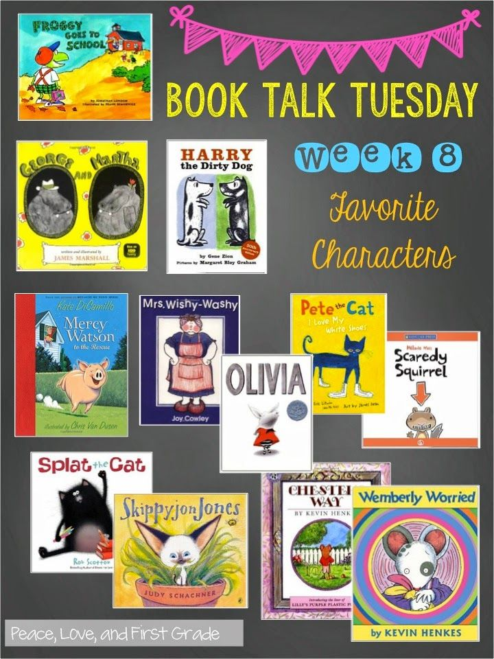 20 favorite picture book characters book talk grade
