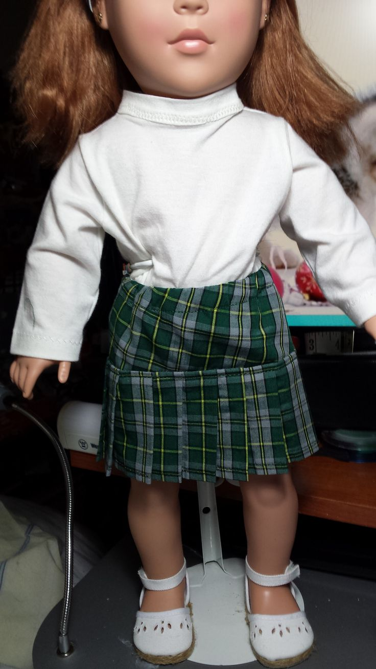 Pleated skirt made with Cape Breton Tartan - Christmas 2015