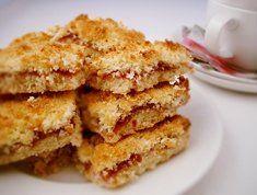 Coconut jam slice | Dessert recipe | Easy food recipes - Dessert