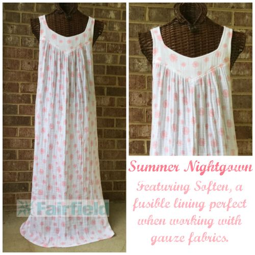 Summer Nightgown sewing tutorial by @itssewlorine featuring Soften interfacing…