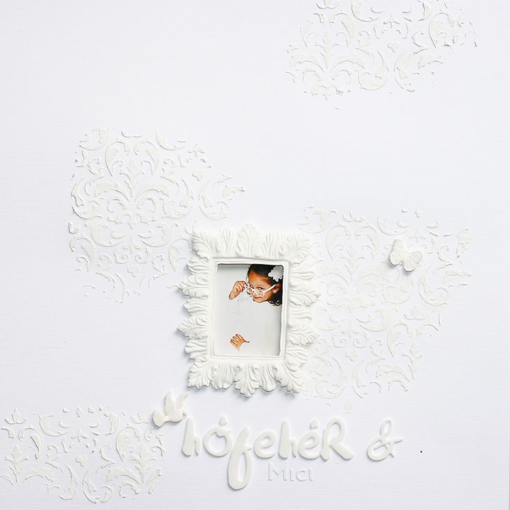 white | traditonal scrapbook page by todido