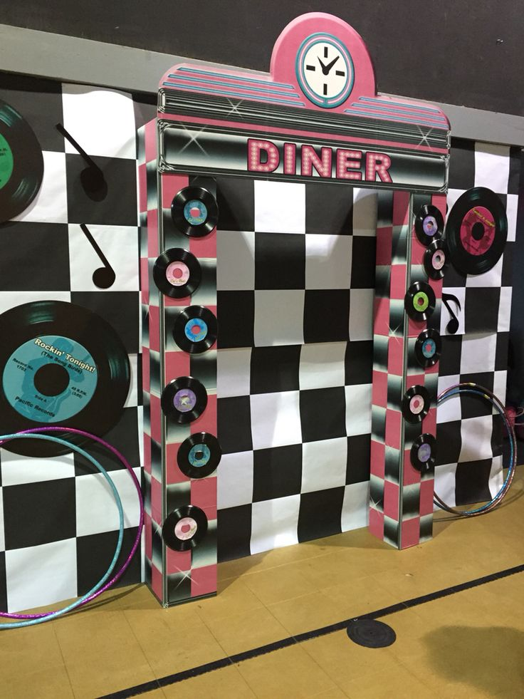Sock Hop Decor  Paper and props from Shindigz.com