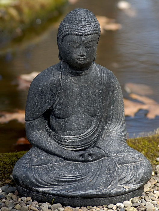 buddha garden statue open to all accepting of any this is the message of buddha symbolized by the meditative buddha garden statue - Open Garden Decor