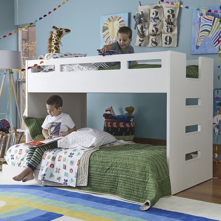 Abridged Low Twin Bunk Bed + Reviews Crate and Barrel