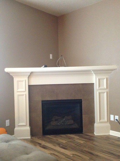 Corner Fireplace, Small Corner Faux Fireplace