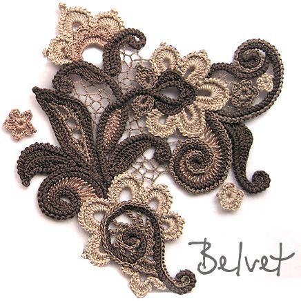 Design & crochet lace by Victoria Belvet                                                                                                                                                      Más