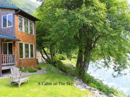 "A Cabin on The Sky : ""...comfortable well appointed space that complements an incredibly beautiful spot on the North Fork of the Skykomish River. Nearly surrounded by County and State parks as well as the Wild Sky Wilderness Area that makes up our eastern horizon, our little hamlet in this beautiful valley is one of the best kept secrets in a state blessed with natural beauty.""  http://www.acabinonthesky.com"