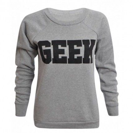 Sueter Estampa Geek - Cinza Moletons/Sueters