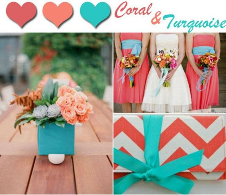 66 best images about wedding color trends on pinterest for Summer wedding color combinations