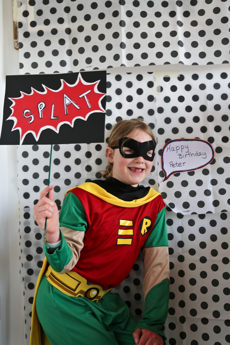 Super hero photobooth