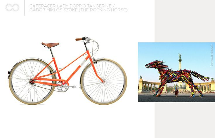 Caferacer lady doppio tangerine + the Rocking Horse    #bike #creme #cycles #cremecycles #cycling #ride #mybike #freedom #lifestyle #art #life #love #city #cyclingphotos