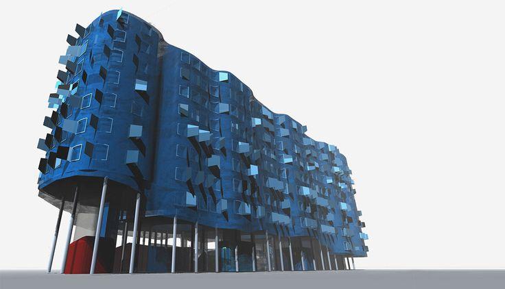 vallecas housing, 3d perspective, CRAB