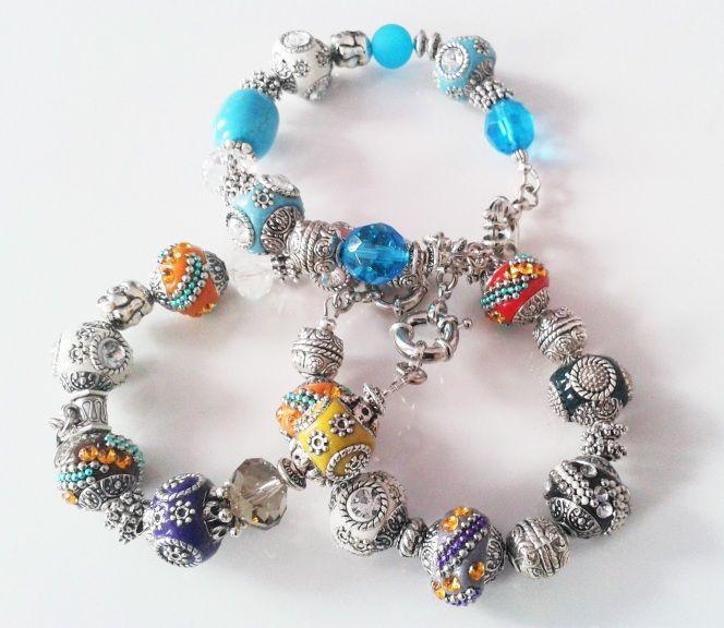 Armbänder mit unsere Indonesien Perlen. www. Perlensucht.at