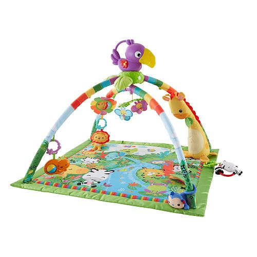 "Fisher-Price Rainforest Music and Lights Deluxe Gym Playset -  Fisher-Price - Toys""R""Us"