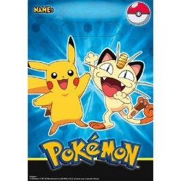 Pokemon Party Supplies, Pokemon Favor Bags, Party Favors