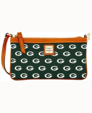 Dooney & Bourke Green Bay Packers Large Wristlet - Green