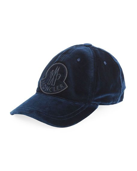 4ed79171a98 Velvet Baseball Cap w  Logo Patch by Moncler