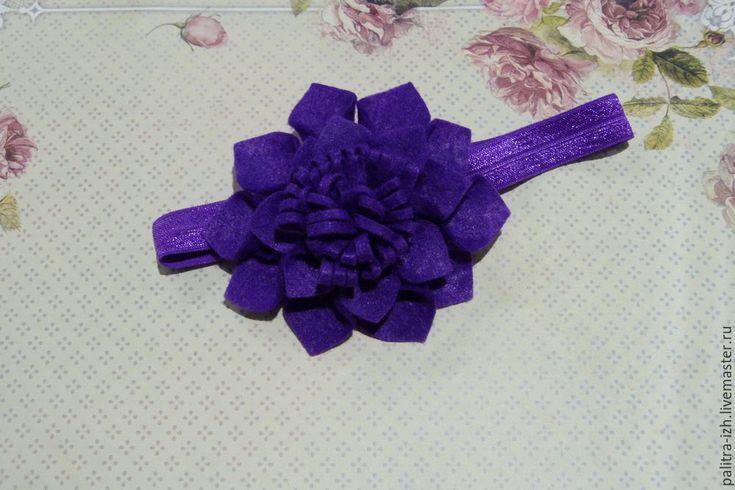 Szyć łatwo i szybko bandaż z kwiatem wykonanym z filcu - Targi Masters - Handmade, ręcznie