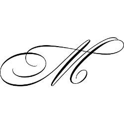 M In Fancy Cursive Cursive M   Tattoo You...
