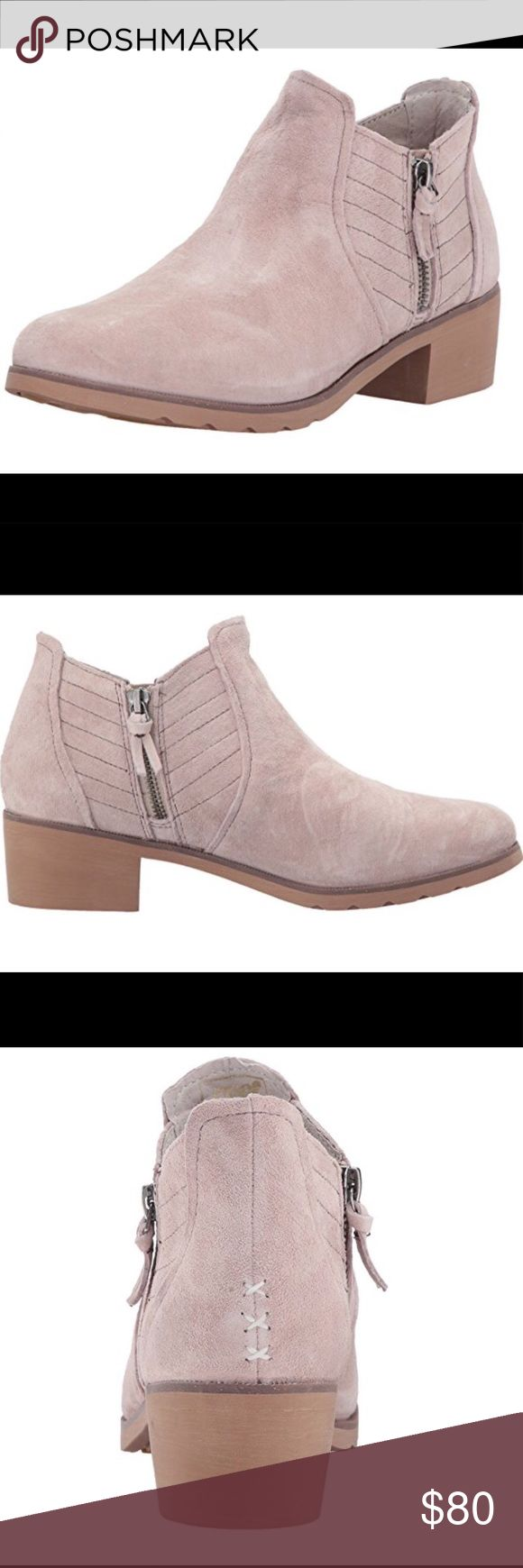 Brand New Reef ankle boots Suede. Silver Grey color  Imported Rubber sole Water resistant wolverine suede upper Super soft microfiber liner with pig suede tongue and heel lining Cork sockliner for premium detail and odor management Swellular traction outsole for superior traction in wet and dry conditions Chelsea boot styling with side zippers for easy on and off Reef Shoes Ankle Boots & Booties
