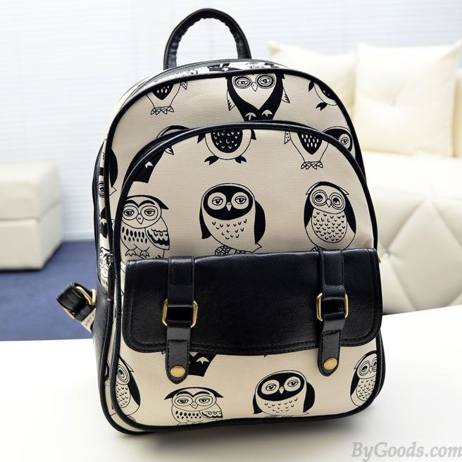 Mini Leisure Cartoon Owl College Backpack only $25 in ByGoods.com!