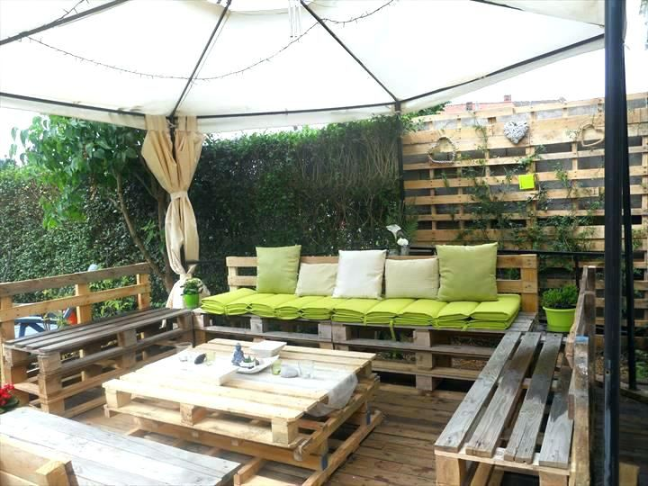 Deck Out Of Pallets Pallet Deck Fabulous Patio Furniture Made Out