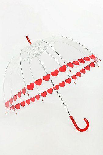 Heart Trim Bubble Umbrella available at www.facebook.com/pages/Paraguas-Albareda/178965492120803
